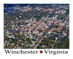 Areal view of Winchester Virginia