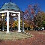 Gazebo in the cent of the Town of Front Royal Virginia
