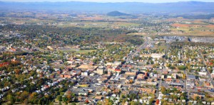 Harrisonburg Virginia aerial view