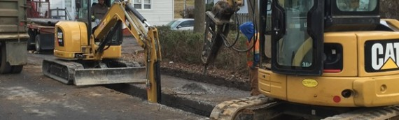 Bushong Contracting: Excavating Water Line in Front Royal VA, 22630